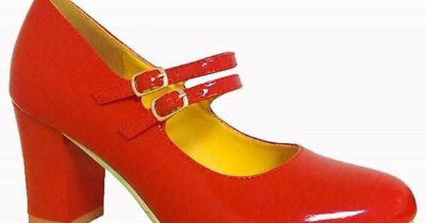 Banned Dancing Days Shoes Block Heels 50s Retro Vintage