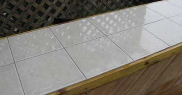 Outdoor Kitchen Countertop Maintenance Tile Countertops Tile