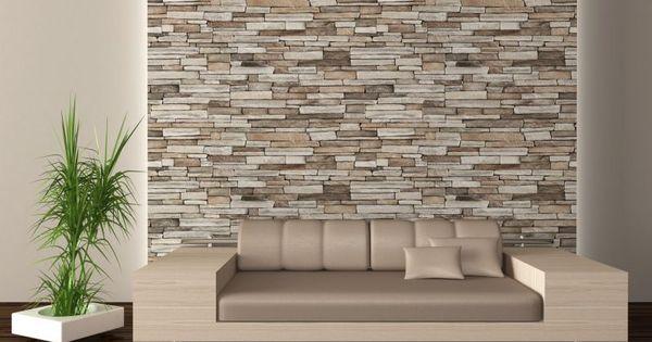 rivestimento parete in pietra  soggiorno  Pinterest  Moderno, Ambiente e Parete dietro il letto