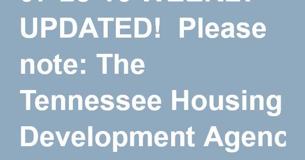 Tennessee Housing Development Agency In Tennessee Tennessee Development State Of Tennessee