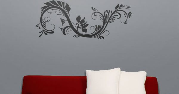 Autocollants decalques wallstickers decals courbe for Appliqu mural autocollant