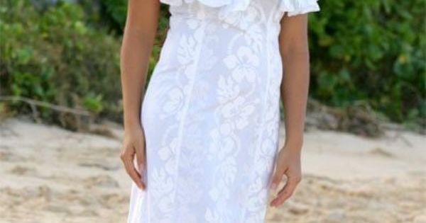 Dresses hawaiian wedding dresses with sleeves casual for Robes de renouvellement de voeux de mariage taille plus