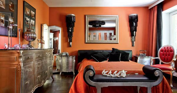 Orange Wall Paint Virtual representation for the living room
