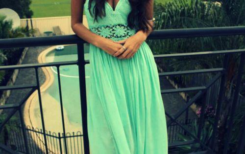 mint maxi dress.
