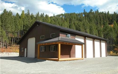 Pictures of metal shops with living quarters rv boat for Rv barn with living quarters