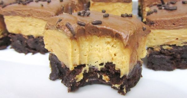 Peanut Butter Fudge Brownie Bricks - Best, Brownie. EVER. You take a