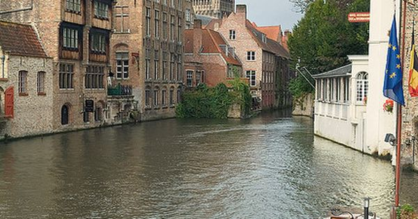 Brugge, Belgium. --Took a boat ride on the canal. The Williams and