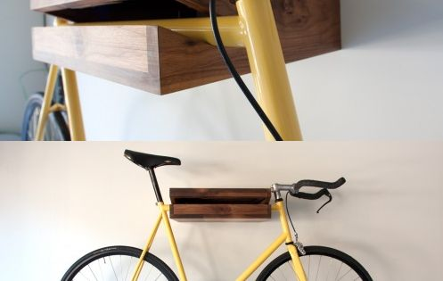 aufh ngung f r das fahrrad bike shelf from chris brigham love the minimalism function. Black Bedroom Furniture Sets. Home Design Ideas