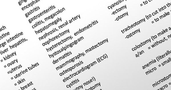 Activities for Medical Terminology | Sciencing