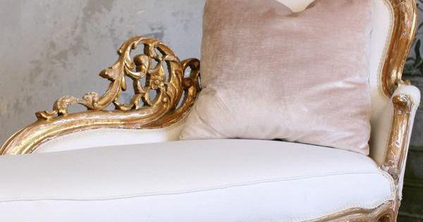 Vintage fainting couch carolyn 39 s chaises pinterest for Art nouveau chaise lounge
