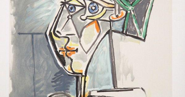 tete de femme Picasso Picasso caras de mujer Pinterest