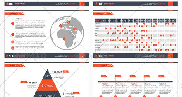 Powerpoint Hit Presentation Templates Infographic And