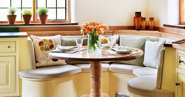 Round Tables In Rounded Kitchen Nooks