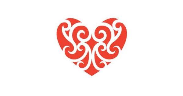 Maori Tattoo Love: Maori Koru Heart Design
