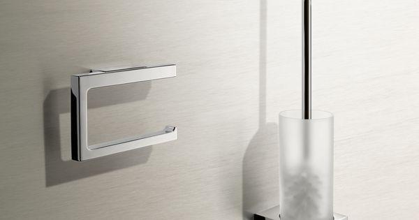 het ontwerp van de keuco toiletaccessoires bekoort met een. Black Bedroom Furniture Sets. Home Design Ideas