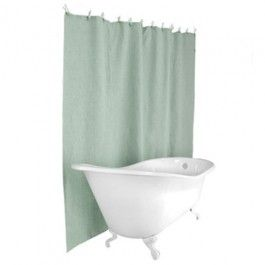 Hemp Shower Curtain Seafoam Blue Clean Shower Curtains