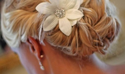 Like the hair style and hair piece. ChipotleWeddingSweepstakes
