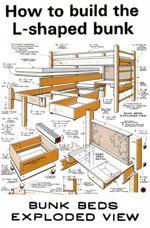 L Shaped Bunk Bed Picture L Shaped Bunk Beds Loft Bed Plans