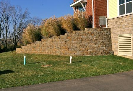 Stepping Down A Retaining Wall With
