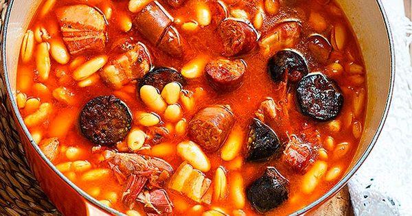 Receta de fabada asturiana en cocotte am am for Como cocinar fabada asturiana