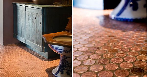 How To Make Copper Penny Flooring In 9 Easy Steps - Home