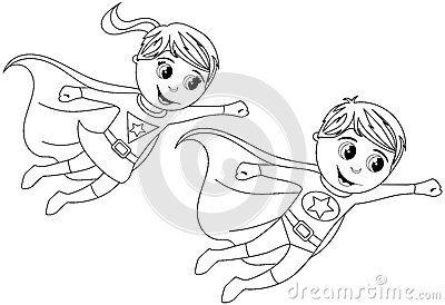 Happy Superhero Kid Kids Flying Isolated Coloring Page Super Hero Coloring Sheets Superhero Coloring Pages Superhero Coloring