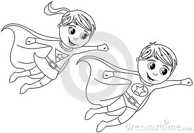 Happy Superhero Kid Kids Flying Isolated Coloring Page I Googled Flying Kid Superhero Superhero Coloring Pages Superhero Coloring Super Hero Coloring Sheets