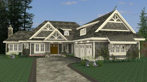 House Plan 098 00290 Traditional Plan 4 668 Square Feet 3 Bedrooms 3 5 Bathrooms Courtyard House Plans Garage House Plans Basement House Plans
