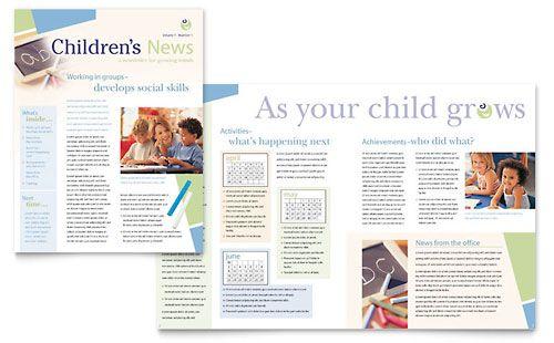 Child Care Preschool Newsletter Template Design Preschool Newsletter Templates Preschool Newsletter Newsletter Templates Word