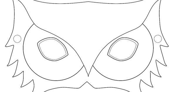 eulen maske das trendige tier zum aufsetzen und verkleiden masken pinterest verkleiden. Black Bedroom Furniture Sets. Home Design Ideas