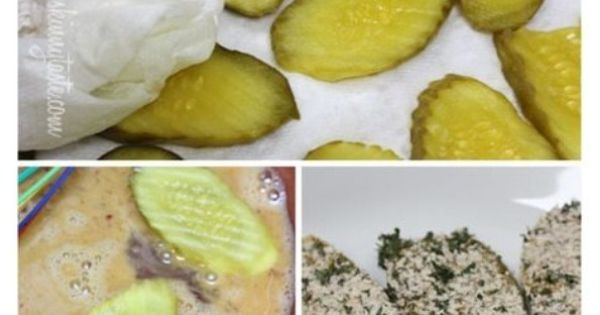 Oven fried pickles, Fried pickles and Ranch dip on Pinterest