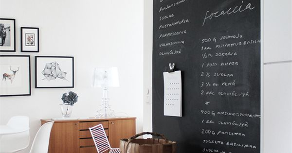 Schoolbordverf idee inspiratie schoolbordverf verf wand pinterest muur witte muren en - Interieurontwerp thuis kleur ...