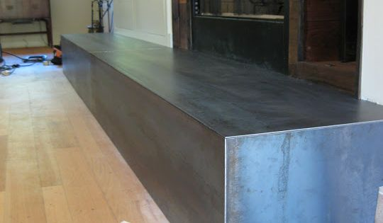 Hot Rolled Steel Fireplace Hearth Fireplace Pinterest Countertops Fireplaces And Bar