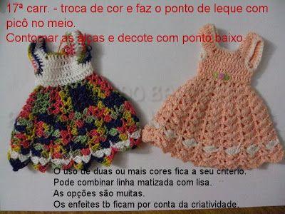 Passo A Passo Vestido Da Barbie Em Croche Com Imagens Trico E