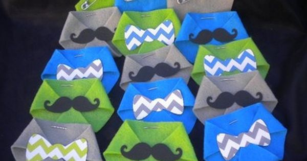 48pc baby shower dirty diaper game little man chevron bow tie mustache
