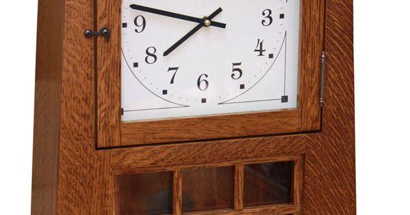 18 Arts And Crafts Pendulum Clock Ohio Hardwood