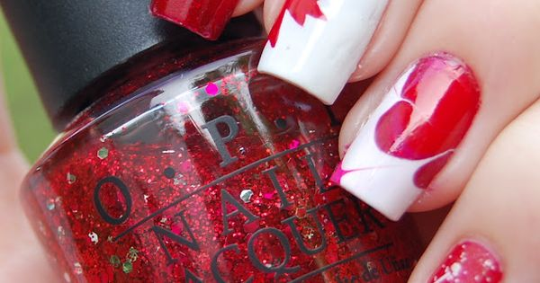 Gorgeous nail art for Canada Day! CanadaDayLondon nailart