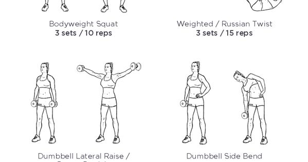 full body toning dumbbell workout  my visual workout