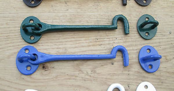 Cast Iron Traditional Cabin Hook And Eye Shed Gate Door Latch Lock