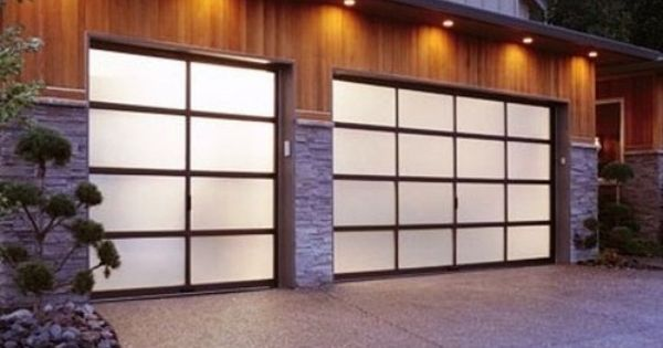 Modern Contemporary Full View Frosted Glass Garage Doors 12x7 Garage Doors Garage Door Design Contemporary Garage Doors