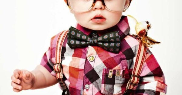 Omg. Little boy. Plaid. Bow tie. Suspenders. Big glasses. Adorable