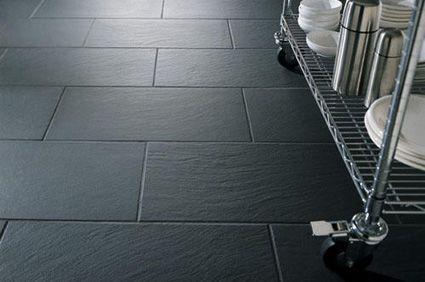 Slate Effect Tiles Grey Kitchen Floor Kitchen Flooring Slate Kitchen