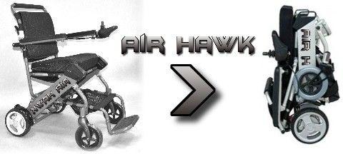 The Air Hawk Electric Foldable Wheelchair Folding Portable