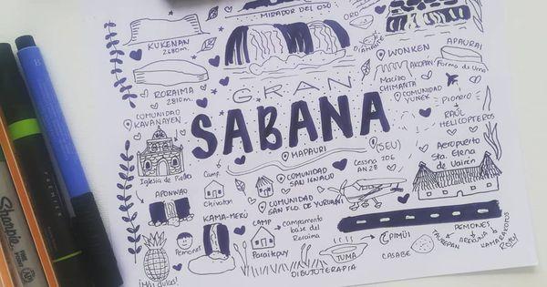 Dibujo Terapia On Instagram La Gran Sabana Es Una Region Del