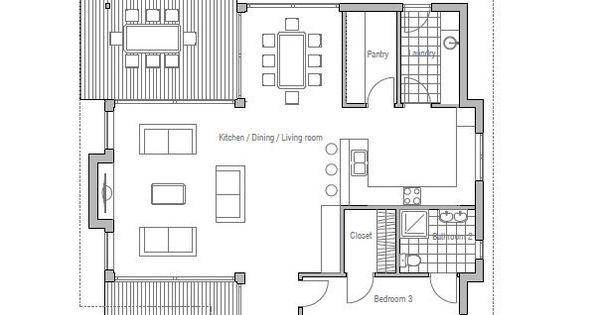 Planta de casa arquitectura pinterest plantilla de for Modificaciones de casas pequenas
