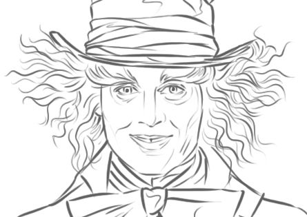 Mad Hatter Johnny Depp in 39 Alice