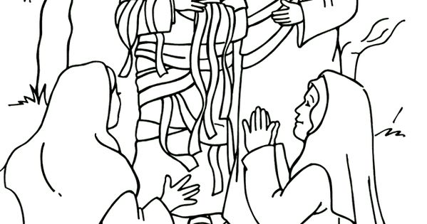 Jesus raises lazarus coloring page lazarus pinterest for Jesus brings lazarus back to life coloring page