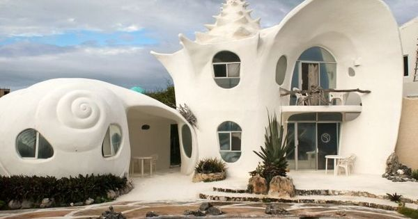 the isla mujeres shell house rental casa caracol is a caribbean paradise and a unique home away. Black Bedroom Furniture Sets. Home Design Ideas