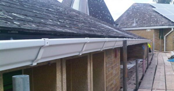 Ogee Guttering On A Commercial Building