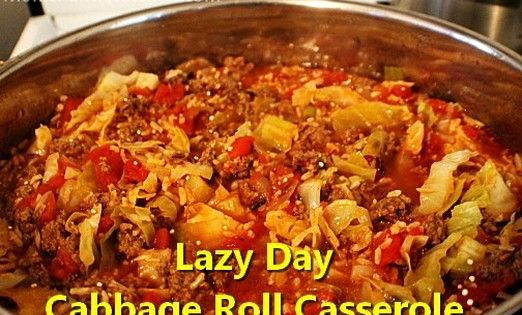 Lazy Day Cabbage Roll Casserole Http Www